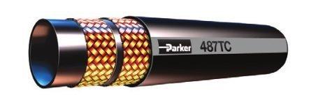 Parker Hydraulic Hose - Parker 487TC-8 Wire Braid Hydraulic Hose 1/2 ID Tough Cover