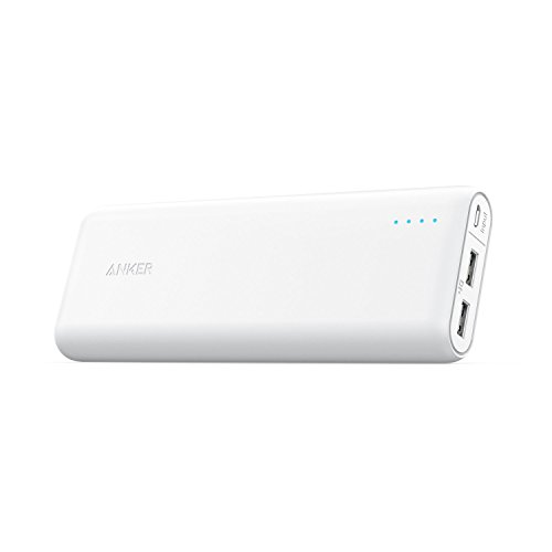 Anker 20000mAh Portable Charger PowerCore 20100 - Ultra High Capacity Power Bank with 4.8A Output, PowerIQ Technology for iPhone, iPad & Samsung Galaxy & More