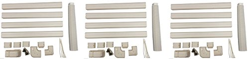 Decorative PVC Line Cover Kit for Mini Split Air Conditioners and Heat Pumps (3-Pack)