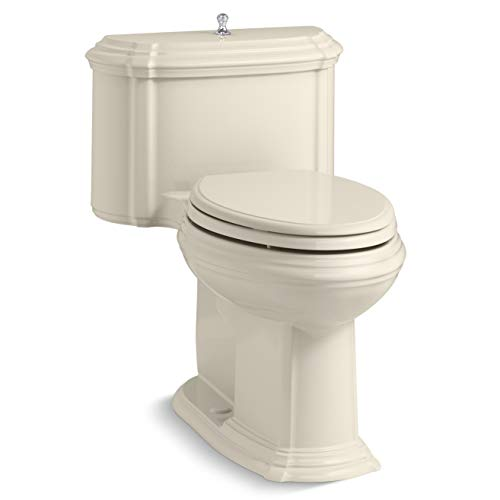 Kohler K-3826-47 Portrait 1.28 GPF One-Piece Elongated Comfort Height Toilet with AquaPiston Technology - Seat Included