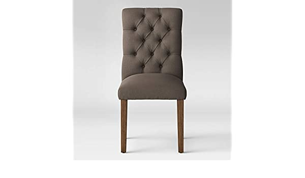 Strange Amazon Com Threshold Brookline Tufted Dining Chair Gray Ibusinesslaw Wood Chair Design Ideas Ibusinesslaworg