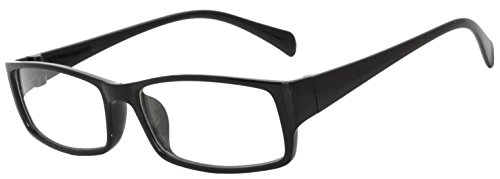 Retro Fashion Style Narrow Rectangular Black Frame Glasses Clear - Clear Glasses Fashion Lens