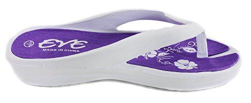 Sandales Compensées Flip Flop Confort Pour Femmes (10/11, Violet)
