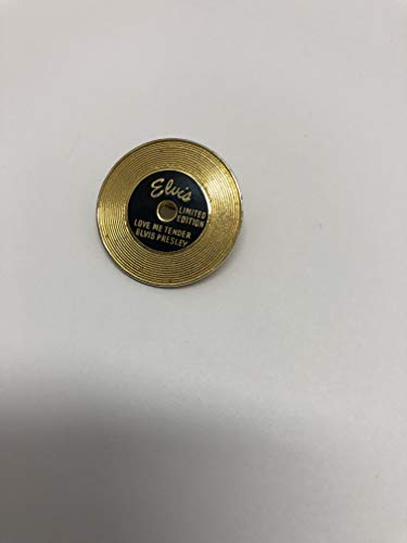 Elvis Presley Gold Record Limited Edition Metal Pin ()
