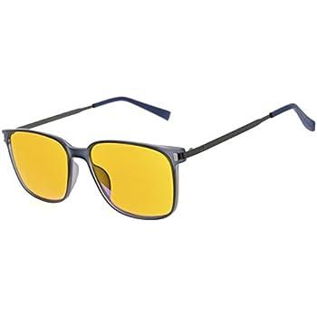 bd2b1c9af14b Eyekepper 97% Blue Blocking Reading Glasses for Men,Dark Orange Lens with  Anti Reflective Coating Computer Readers (Blue, 1.00)
