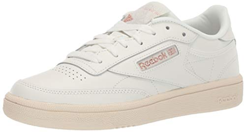 Reebok Women's Club C 85 Sneaker, Chalk/Rose Gold/Paper White, 9.5 M US (Best Reebok Running Shoes For Women)