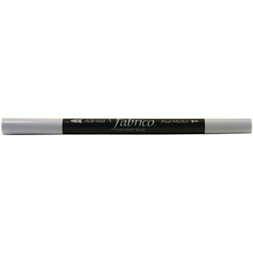 Tsukineko Dual-Ended Fabrico Marker Color-Fast, Baby Blue ()