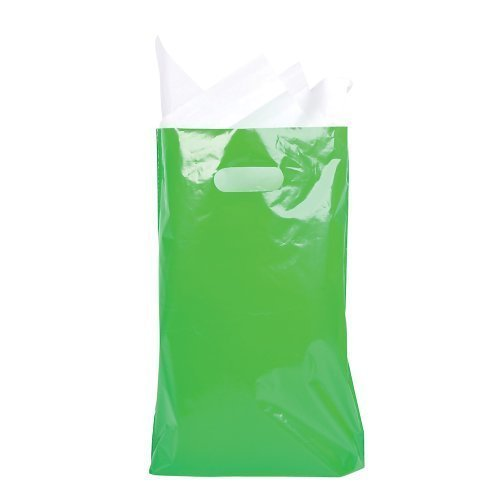 8.75' x 12' Green Treat / Goody Bag (package of 50)
