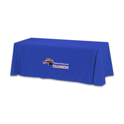 Georgia Highlands Royal 6 foot Table Throw 'Official Logo' by CollegeFanGear