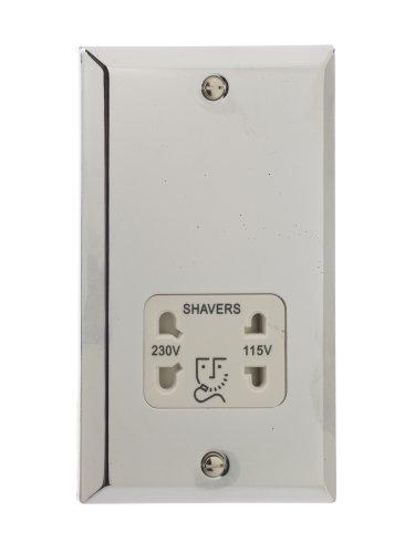 British General Chrome Shaver Socket Dual Voltage -