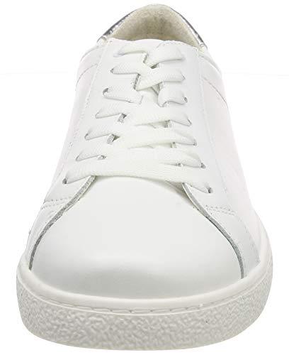 169 169 Femme Met Sneakers Blanc 1 Basses wht 1 Tamaris 23631 silver 22 6ZpWfnFq