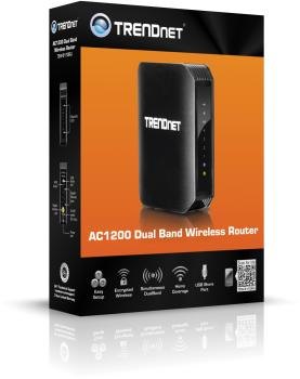 312mHlSbLvL - TRENDnet Wireless AC1200 Dual Band Gigabit Router with USB Share Port, TEW-811DRU