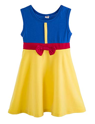 Little Girl Mermaid Dress Snow White Belle Rapunzel Cinderella Elena Costume (3-4 Years, Snow White) -
