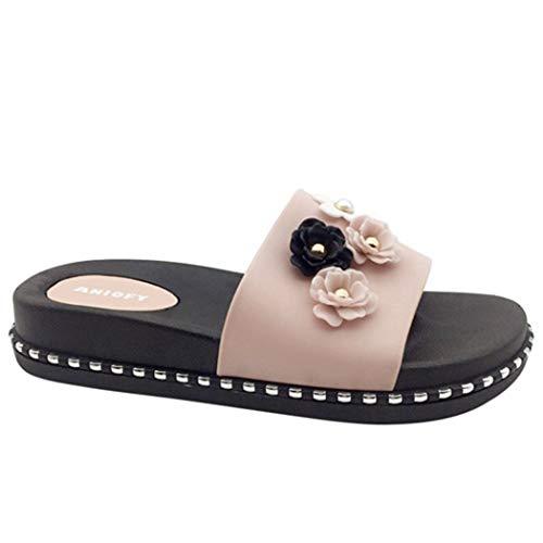 Intérieur Appartements Dames Antidérapantes Été Pantoufles Confortables Chaussures De Rose À La Femme Fleurs Donad Maison Style Plage Pvc Femmes qA0XBwp