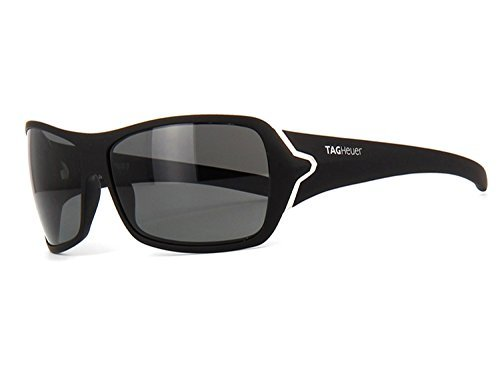 TAG Heuer Sunglasses 9202 901 Racer 2 Matte Black Silver Polarized - Heuer Sunglasses Tag Mens