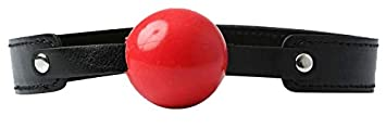 Sex & Mischief Solid Color Rojo Ball Gag Mordaza - 150 gr ...