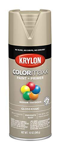 Krylon K05526007 COLORmaxx Spray Paint, Aerosol, - Paint Tan Spray