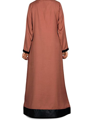 MyBatua redwood islamic abaya largo diario y ocasión desgaste vestido AY-235