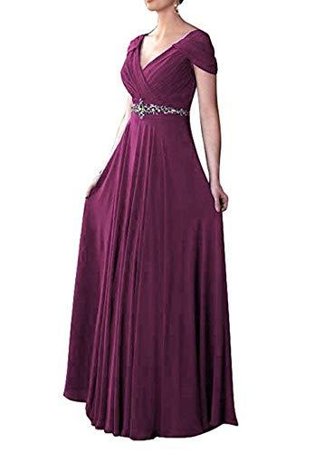 Hochzeits Abendkleider mia Mutterkleider Dunkel Fuer La Kleider Fuchsia Elegant Linie Lang Braut Brautmutterkleider A Chiffon Sommer 41pW8UyRc