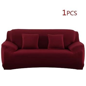 XGM GOU Funda de sofá elástica de Color sólido Universal ...