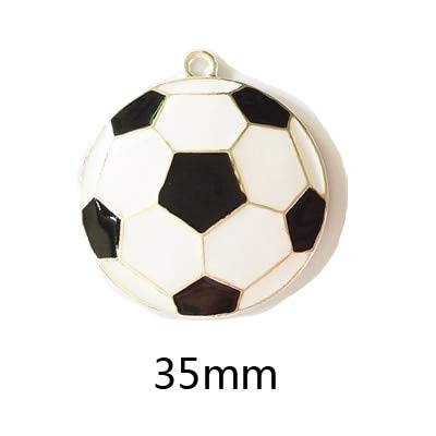 Enamel Football - Multi Amazings (Choose Design First) 10Pcs/Bag Sport Ball Series 2 Enamel Football Basketball Volleyball Baseball Rugby Tennis Pendant for