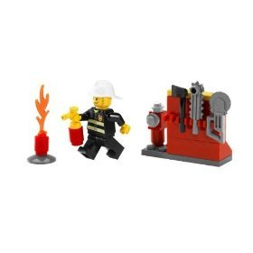 Lego City Exclusive Mini Figure Set #5613 Firefighter