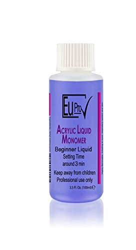 Acrylic Nail Liquid Monomer Beginner, Slow Setting For 100ml bottle salon nails system Koi