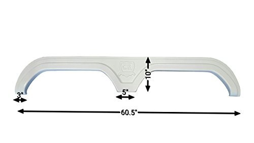 New Cruiser (2008-2009 Crossroads Cruiser New Fender Skirt (White))