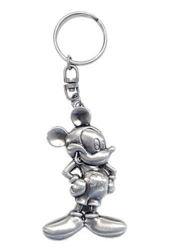 Disney Classic Mickey 2D Pewter Keyring