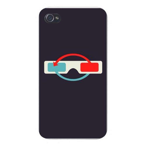 Apple Iphone Custom Case 5 5s Snap on - 3D Glasses Red & Green Arrows on - Eyewear Arrow