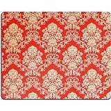 luxlady-Gaming-Mousepad-imagen-ID-33954726-Rojo-Vintage-Golden-diseo-de-rosas-de-papel-pintado-con-ornamentos-de-estilo-barroco