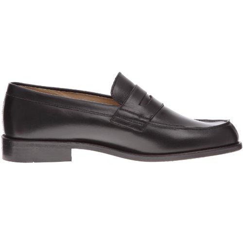 John Lakes - Zapatos de cuero para hombre Negro