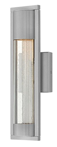Hinkley 1220TT Contemporary Modern One Light Outdoor Wall Mount from Mist collection in Pwt, Nckl, B/S, (Light Fixture Silver Mist)
