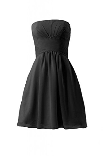 Dress Strapless Party Dress DaisyFormals Short Bridesmaid BM718 Chiffon black 52 wqHHIY