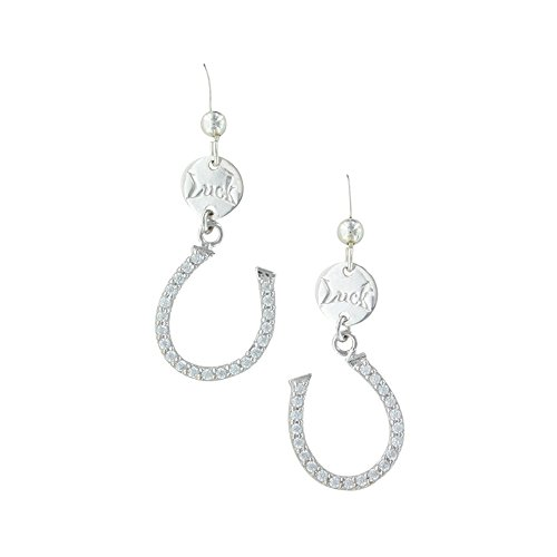Montana Silversmiths Capturing the Luck Horseshoe Earrings - ER3376 (Montana Silversmiths Jewelry Set)