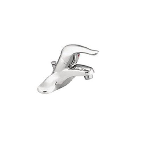 Chateau Centerset One Lever Handle Low Arc Bathroom Faucet by Moen