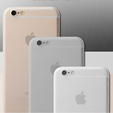 Fundas y estuches para teléfonos móviles, caja suave ultra fino mate translúcido para iPhone6 