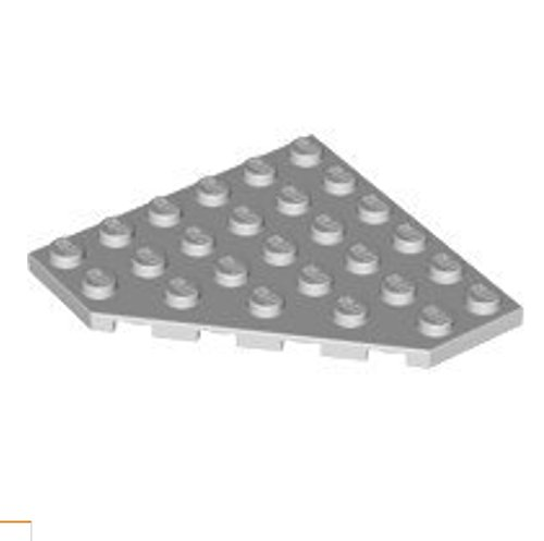 Lego Star Wars Light Bluish Gray Wedge, Plate 6 x 6 Cut Corner x6 Loose