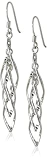Sterling Silver Linear Swirl French Wire Earrings (B005N0NI1K) | Amazon Products
