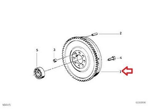 Bmw Oem Dual Mass Flywheel 240 Mm E39 E46 E53 Z3 21 21 7 512 474
