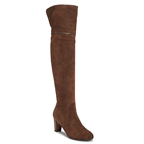 Aerosoles Women's Lavender Over the Knee Boot, Mid Brown Suede, 8 M US by Aerosoles
