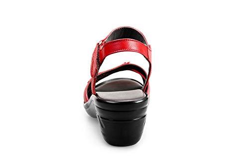 Donna Ballerine 35 AN DIU01245 EU Rosso Red TUwn8aPq