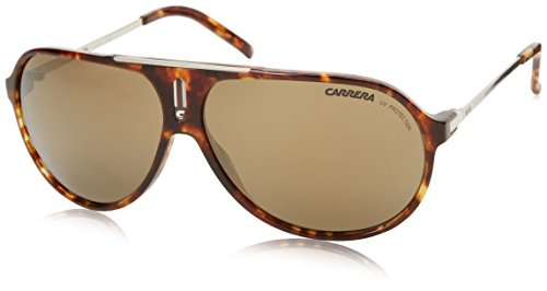 Carrera Hots Aviator Sunglasses,Green Havana & Silver,64 - Carrera Sunglasses Polarized