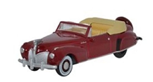 Oxford Diecast 87LC41001 HO Gauge 1:87 Scale Lincoln Continental 1941 maroon diecast