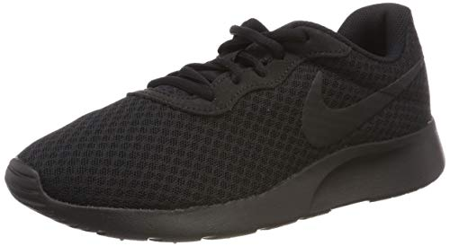 Nike Men's Tanjun Premium Running Sneaker Black/Black/Anthracite 10.5 (Shoes Grey Nike Roshe)
