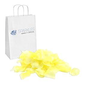 Sparkles Make It Special 900-pcs Rose Petals Faux Silk Flower Light Yellow 46