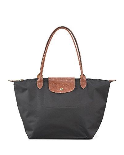 longchamp le pliage large shoulder tote bag black women purse. Black Bedroom Furniture Sets. Home Design Ideas