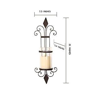 ELEGAN Black Iron Wall Candle Holder Sconce (Set of 2)