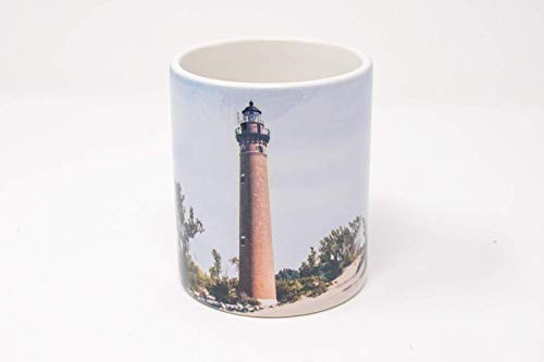 (Little Sable Point Michigan Lighthouse Coffee Mug, Design 1)