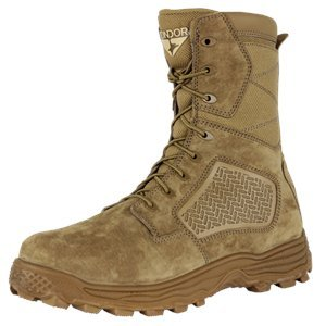 CONDOR Men's Murphy Zip 9'' Tactical Waterproof Boots, Brown Leather, Nylon Fabric, 7 E 9' Leather Combat Boot